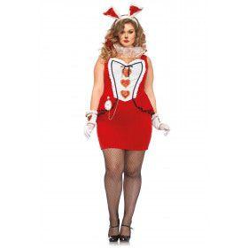 Rode Hartendame Plus Size Vrouw Kostuum