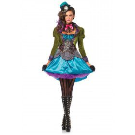 Policolor Mad Hatter Psychedelic Jurk Vrouw