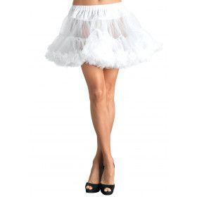 Basic Petticoat Met Twee Lagen Wit