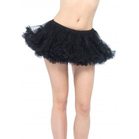 Chiffon Mini Petticoat Zwart