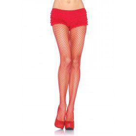 Elastaan Visnet Panty Rood Plus Size