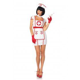 50s Verpleegster Ms Right Vrouw Kostuum