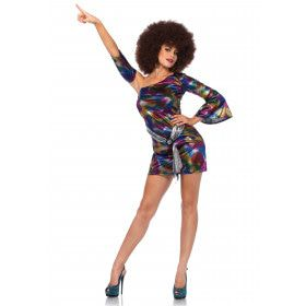 Disco Chick Sally Vrouw Kostuum
