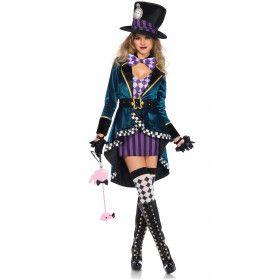 Royale Mad Hatter Dame Vrouw Kostuum