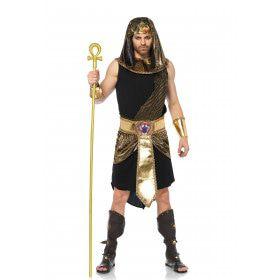 Pharaoh Egyptische Godheid Luxe Man Kostuum