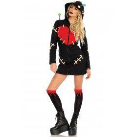 Verleidelijke Voodoo Pop Vrouw Kostuum