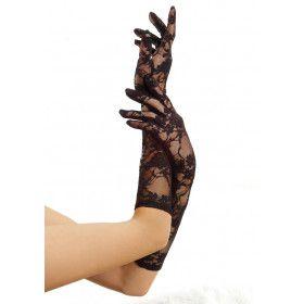 Kanten Stretch Elleboog Handschoenen