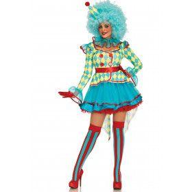 Luxe Carnavals Clown Vrouw Kostuum