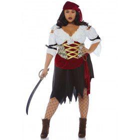 Piraat Stille Oceaan Tonga Kaper Vrouw Kostuum