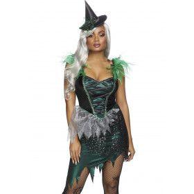 Ondeugende Boze Heks Gevallen Ster Vrouw Kostuum