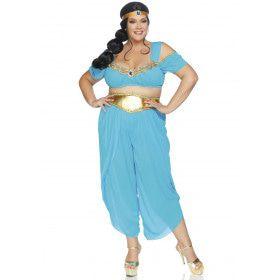 Wellustige Woestijn Prinses Wahida Plus Size Vrouw Kostuum