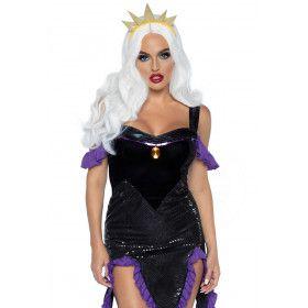 Nijdige Zee Heks Koningin Ursula Vrouw Kostuum