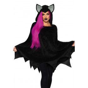 Vampier Vleermuis Poncho Vrouw Kostuum
