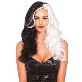 Cruella Pruik Zwart-Wit