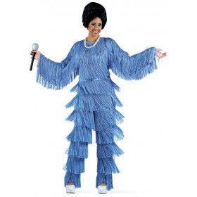 Daverend Diana Roos Disco Jaren 70 Vrouw Kostuum