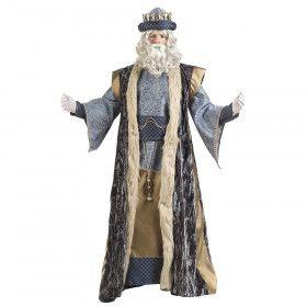 Koning Melchior Driekoningen Kerstmis Man Kostuum