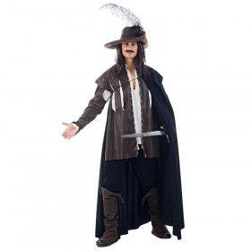 Eregarde Musketier Porthos Man Kostuum