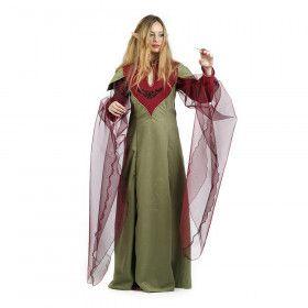 Groen Kiara Keltische Druide Vrouw Kostuum