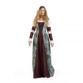 Middeleeuwse Jonkvrouw Beatrice De Bordeaux Kostuum