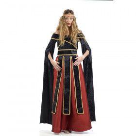 Rood Middeleeuwse Hertogin Henrike Von Handrup Vrouw Kostuum