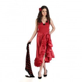 Spaanse Carmen Caramba Flamenco Vrouw Kostuum