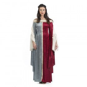 Fleur De Lis Middeleeuwse Koningin Vrouw Kostuum