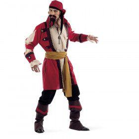 Caraibische Piraat Damian Depp Man Kostuum