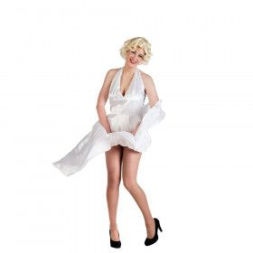 Sexy Film Legende Seven Year Itch Marylin Vrouw Kostuum