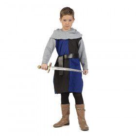 Ridder Zonder Paard Raoul Blauw Zwart Jongen Kostuum