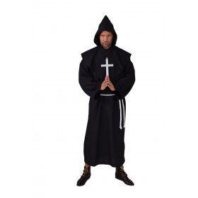 Semper Silentio Klooster Monnik Zwart Man Kostuum