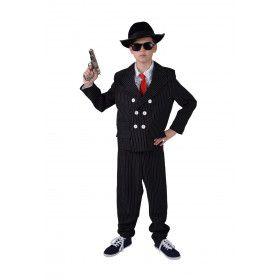 Steenkoude Maffia Gangster Jongen Kostuum