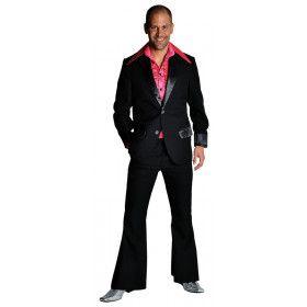 Zwart Saturday Night Boogie Night Man Kostuum