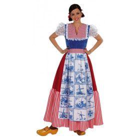 Boerin Delfts Blauwe Tegel Vrouw Kostuum