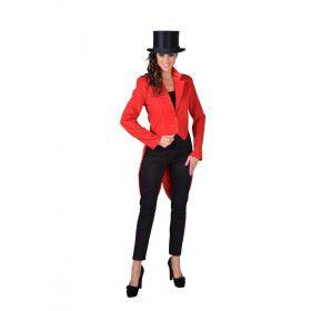 Cabaret Slipjas Circus Artiest Rood Vrouw