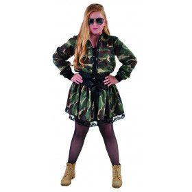 Jaren 90 Rockster Leger Camouflage Jasje Kind