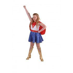 Waanzinnig Sterke Super Girl Meisje Kostuum