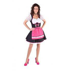Roze Traditioneel Salzburg Tirol Vrouw Kostuum