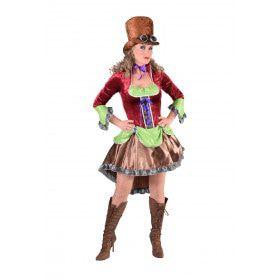 Kleurig Manchester Steampunk Vrouw Kostuum