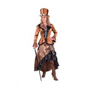 Bronzen Steampunk Blackburn Fantasie Vrouw Kostuum