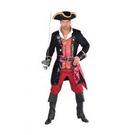 Wrede Piraat Edward Low Man Kostuum