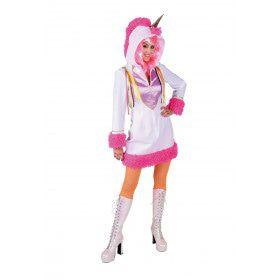 Fabeldier Eenhoorn Roze Manen Vrouw Kostuum