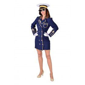Marine Admiraal Oorlogsschip Vrouw Kostuum