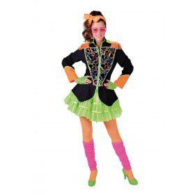 Popartiest Jaren 80 Neon Jas Vrouw