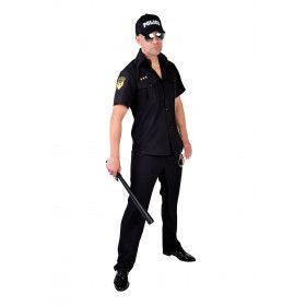 Drie Sterren Brigadier Politie Hemd Man