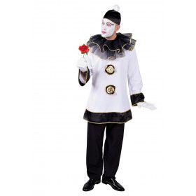 Diep Trieste Pierrot Clown Man Kostuum