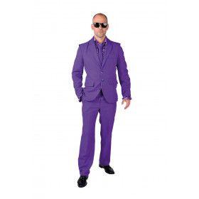 Cool Men In Purple Man Kostuum