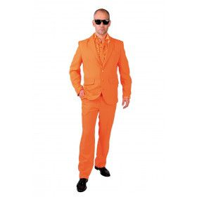 Cool Men In Orange Man Kostuum