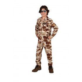Operatie Desert Storm Woestijn Camouflage Kind Kostuum