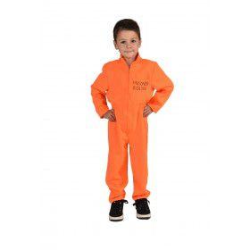 Veroordeelde Gevangenis Boef Kind Kostuum
