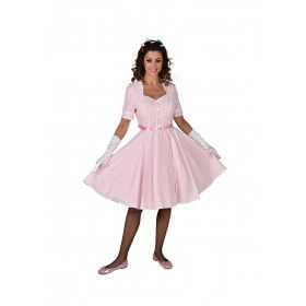 Roze Rock And Roll Dansfeest Vrouw Kostuum